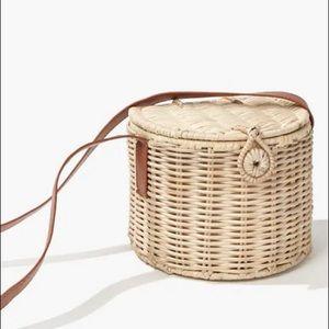 Straw Basket Crossbody